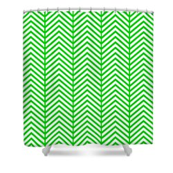 Shower Curtain featuring the digital art Herringbone Pattern - Choose Your Color by Mark E Tisdale