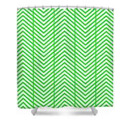 Shower Curtain featuring the digital art Herringbone Reverse - Choose Your Color by Mark E Tisdale