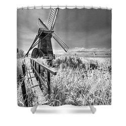 Herringfleet Pump Norfolk Uk Shower Curtain