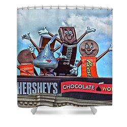 Hershey's Chocolate World Sign Shower Curtain