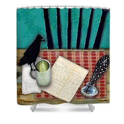 He's Gone Shower Curtain by Lisa Noneman