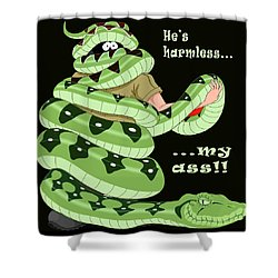 Hes Harmless My Ass Shower Curtain by Unknown