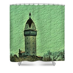 Heublein Tower Shower Curtain