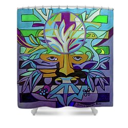 Shower Curtain featuring the painting Hexagram 24-fu-turning-point by Denise Weaver Ross