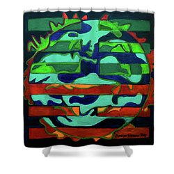 Shower Curtain featuring the painting Hexagram 36 - Ming Yi by Denise Weaver Ross