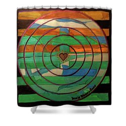 Shower Curtain featuring the painting Hexagram 41-sun-decrease by Denise Weaver Ross