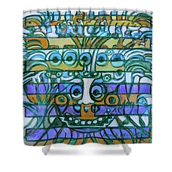 Shower Curtain featuring the painting  Hexagram-42-yi-increase by Denise Weaver Ross