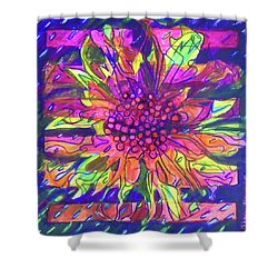 Shower Curtain featuring the painting Hexagram-55-feng-abundance by Denise Weaver Ross