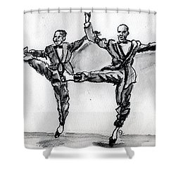 Hey Brother Shower Curtain by Howard Barry