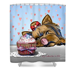 Hey There Cupcake Shower Curtain