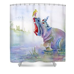Hey Whats The Big Idea Shower Curtain by Amy Kirkpatrick