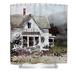 Heyl House, Minneapolis, Kansas Shower Curtain by Monte Toon