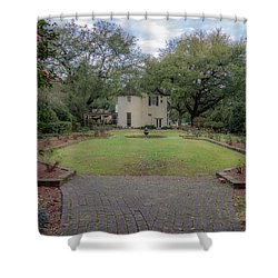 Shower Curtain featuring the photograph Heyman Garden 03 by Gregory Daley  PPSA