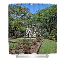 Shower Curtain featuring the photograph Heyman House Garden 5 by Gregory Daley  PPSA