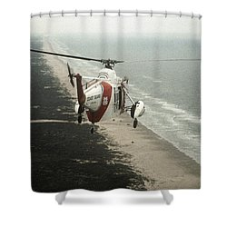 Hh-52a Beach Patrol Shower Curtain