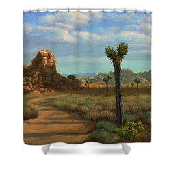 Hi Desert Road Shower Curtain
