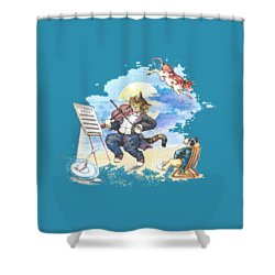 Hi Diddle Diddle T-shirt Shower Curtain by Herb Strobino