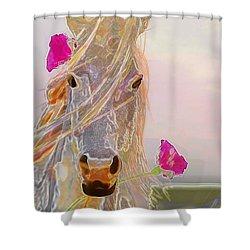 Hi Ho Silver Shower Curtain