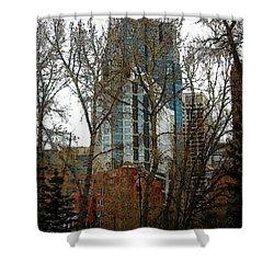 Hi-rise Living  Shower Curtain by Stuart Turnbull