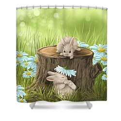 Hi There Shower Curtain by Veronica Minozzi