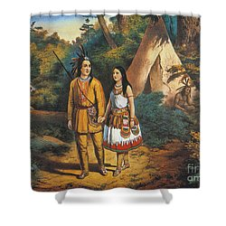 Hiawathas Wedding Shower Curtain by Granger