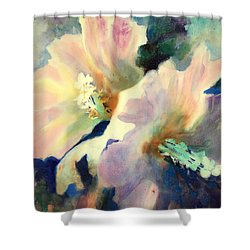 Hibicus Up Close Shower Curtain by Kathy Braud