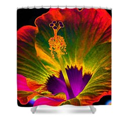 Hibiscus 01 - Summer's End - Photopower 3189 Shower Curtain