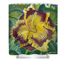 Shower Curtain featuring the painting Hibiscus 2 by John Keaton