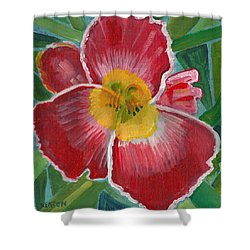 Shower Curtain featuring the painting Hibiscus 3 by John Keaton