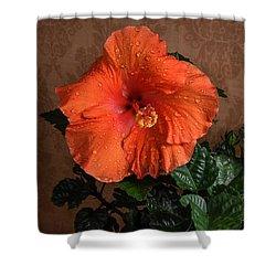 Hibiscus Fine Art Shower Curtain