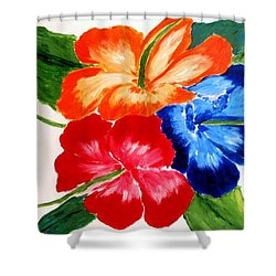 Shower Curtain featuring the painting Hibiscus by Jamie Frier