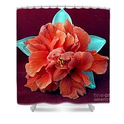 Hibiscus On Glass Shower Curtain by Barbie Corbett-Newmin