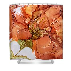 Shower Curtain featuring the painting Hibiscus by Pat Purdy