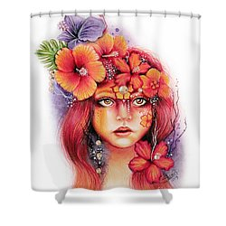 Hibiscus Shower Curtain by Sheena Pike
