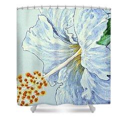 Hibiscus White And Yellow Shower Curtain