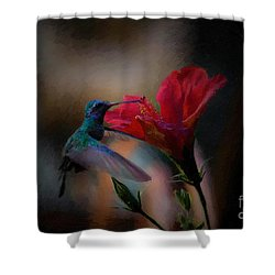 Hibiskiss Painted Shower Curtain