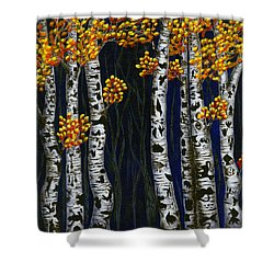 Hidden Autumn  Shower Curtain