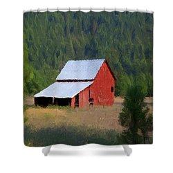 Shower Curtain featuring the painting Hidden Away P D P by David Dehner