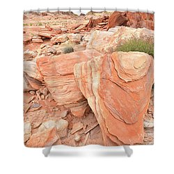 Shower Curtain featuring the photograph Hidden Cove In Valley Of Fire by Ray Mathis