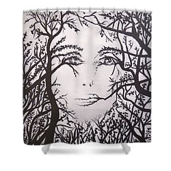 Hidden Face Shower Curtain