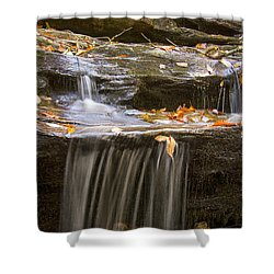 Shower Curtain featuring the photograph Hidden Falls Detail by Bob Decker