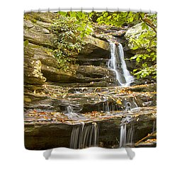 Shower Curtain featuring the photograph Hidden Falls-hanging Rock State Park by Bob Decker