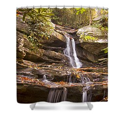Shower Curtain featuring the photograph Hidden Falls Of Danbury, Nc by Bob Decker