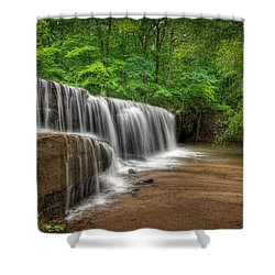 Hidden Falls  Shower Curtain by Rikk Flohr
