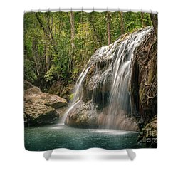 Shower Curtain featuring the photograph Hidden In The Jungle Of Guatemala by Jola Martysz