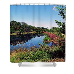 Shower Curtain featuring the photograph Hidden Lake by Gary Wonning
