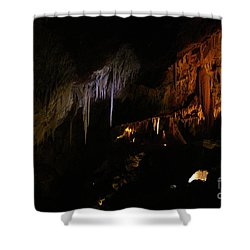 Hidden Light Shower Curtain by Oscar Moreno