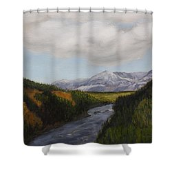 Hidden Mountains Shower Curtain