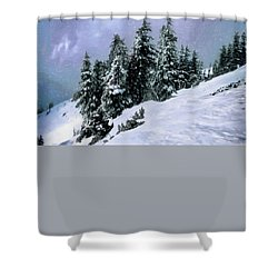 Shower Curtain featuring the photograph Hidden Peak by Jim Hill