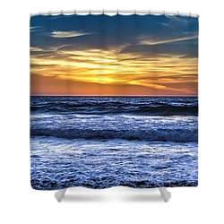 Hidden Sunset Shower Curtain